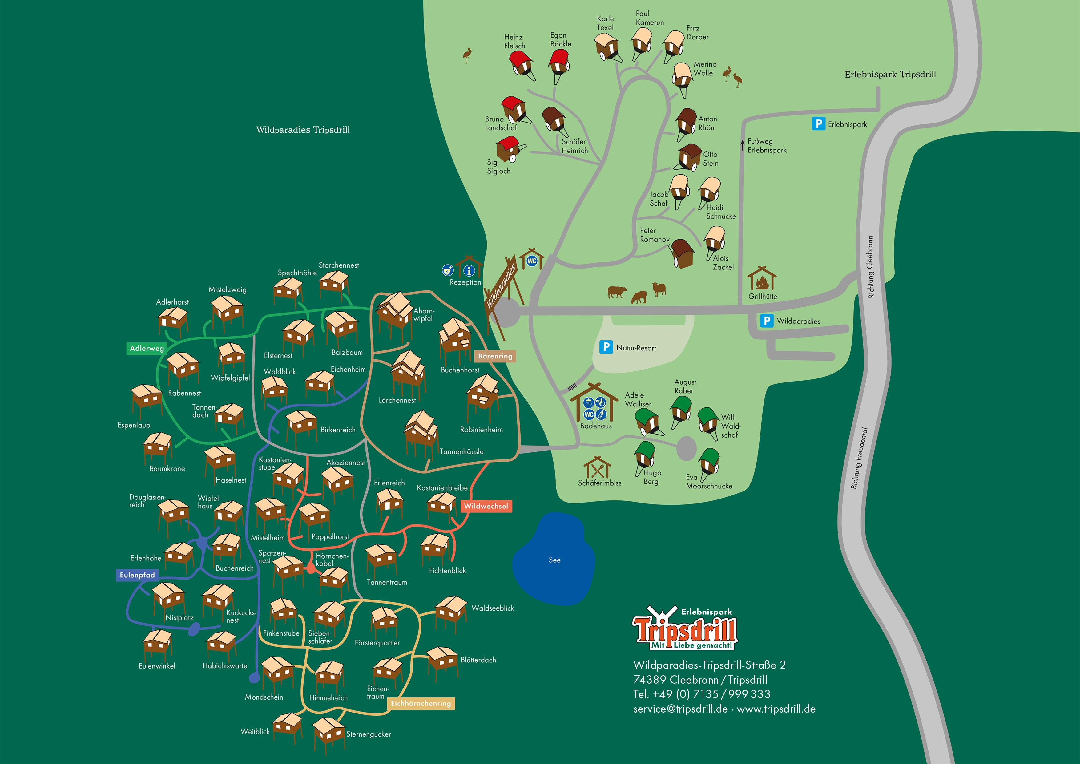 Lageplan Naturresort Tripsdrill